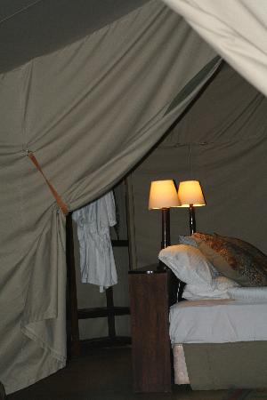Entumoto Safari Camp: family tent- view from one bedroom