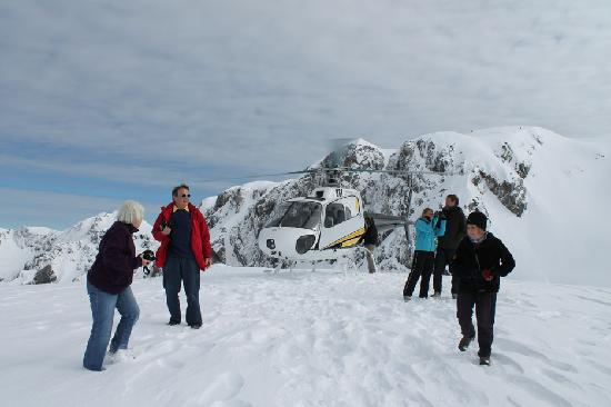Reflection Lodge: We landed above the glaciers.
