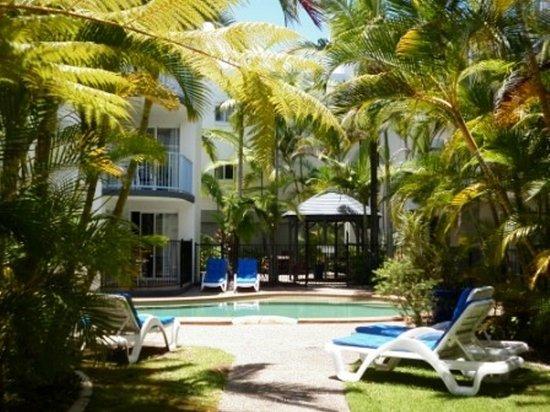 Beachside Mooloolaba Sunshine Coast: inside pool and gardens