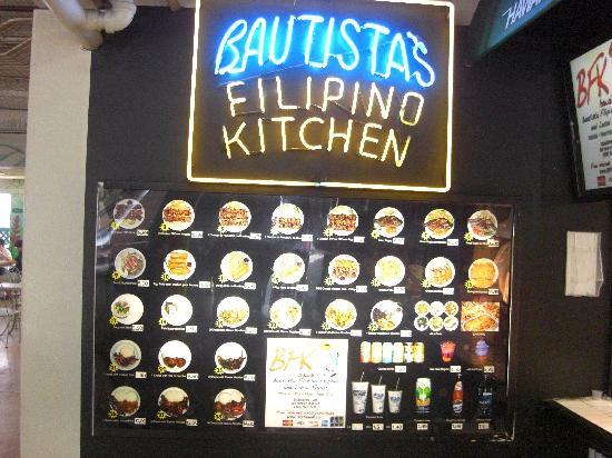 Bautista's Filipino Kitchen: ローカル料理メニュー