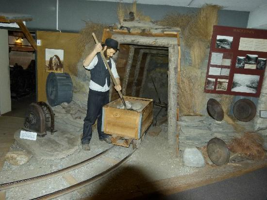 Lakes District Museum & Art Gallery: gold mining display
