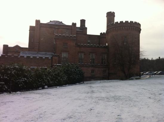 Dalhousie Castle: castle in the snow