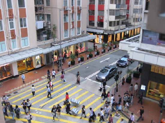 Comfort Hostel HK: view from window 2