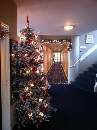 Hotel Nassau Bergen: Kerstversiering is prachtig!