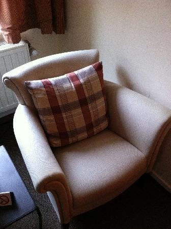Hotel 't Sandt: sitting area in the Cranley Suite