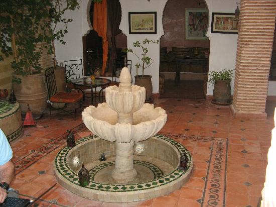 Aquarelle Riad: The inside Courtyard