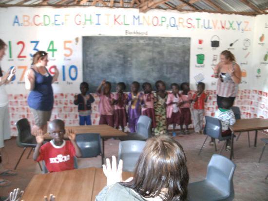 The Gunjur Project Lodge Local Nursery School Welcomes Us In