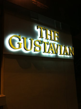The Gustavian: Logo outside