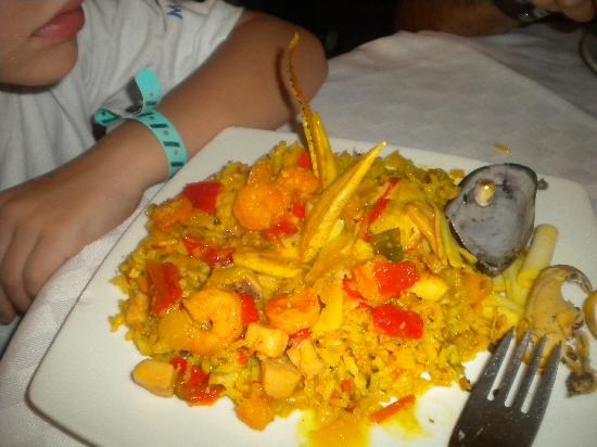Decameron San Luis: Plato de mariscos, cocina caribeña