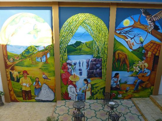 Hotel Los Arcos: Mural at hotel