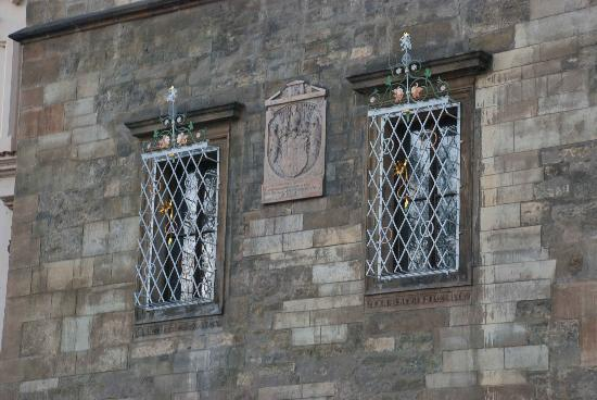 Decorated window in New Town Hall