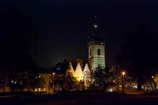 The New Town Hall after dark