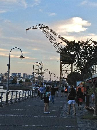 Sottovoce: Old cranes provide sculptural contrast to the skyline in Puerto Madera.