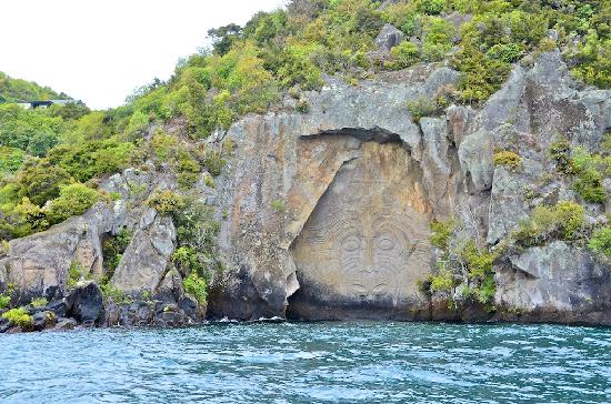 Above the Lake at Windsor Charters: Cruising time: Maori carvings