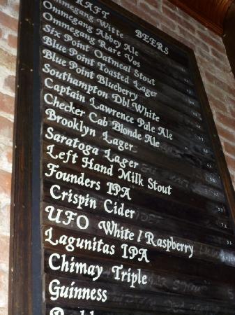 Brickyard Gastropub : The List