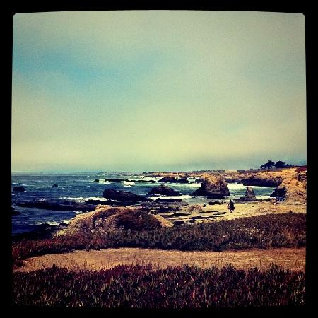 View of bluffs at Glass Beach