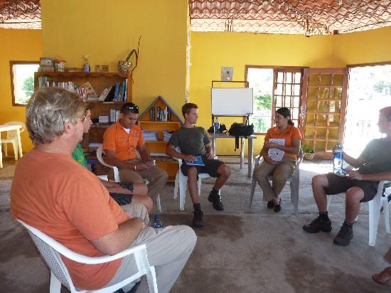 San Juan del Sur, Nicaragua: Class in group for practice spanish in conversation