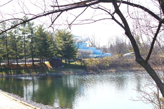 Atlantis Waterpark: From across the lake
