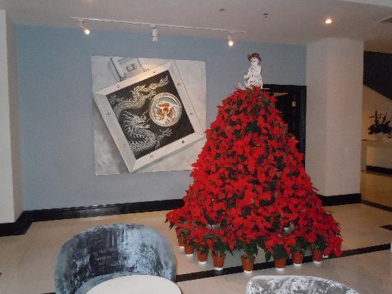 Geruisi Art Hotel: Un detalle de la decoracion navideña