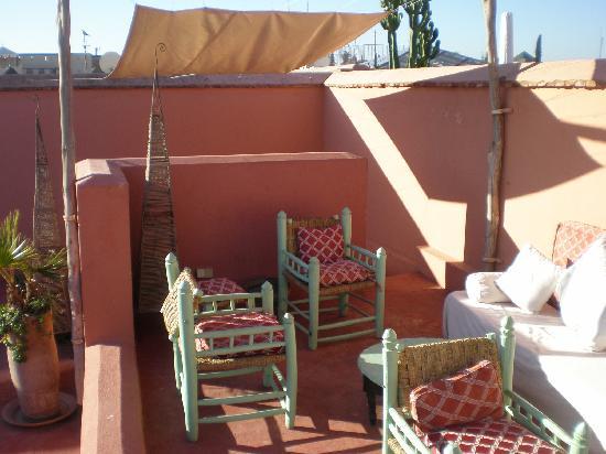 Dar Malak: la terrasse au deuxième
