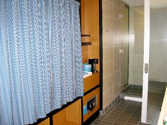 aloft Chesapeake : The Bathroom with the Sliding Door Open