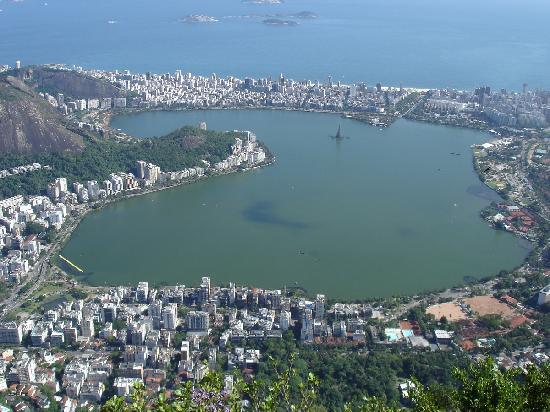 Atlantis Copacabana: Lago Freitas visto desde el Corcovado