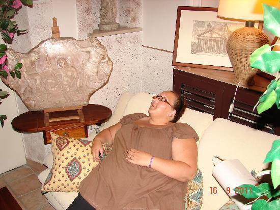 Hotel Pensione Barrett: Le petit salon de détente de l'étage