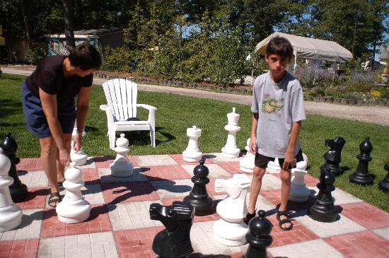 Saga Resort: how about a game of chess?