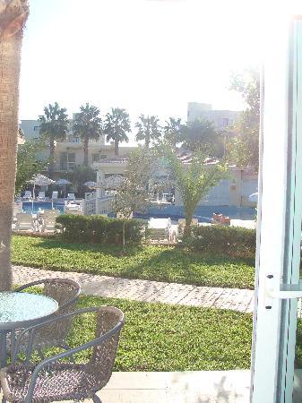 La mia stanza - vista sulle piscine