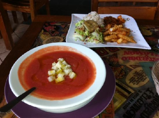 MADRID KUL Your Meeting Point in Managua: gazpacho y pollo