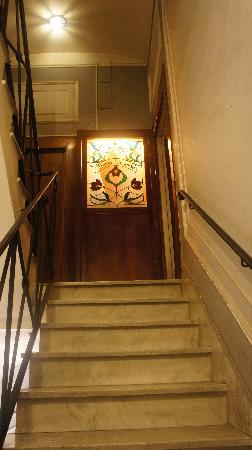 Hotel Giardino : Escalier d'entrée