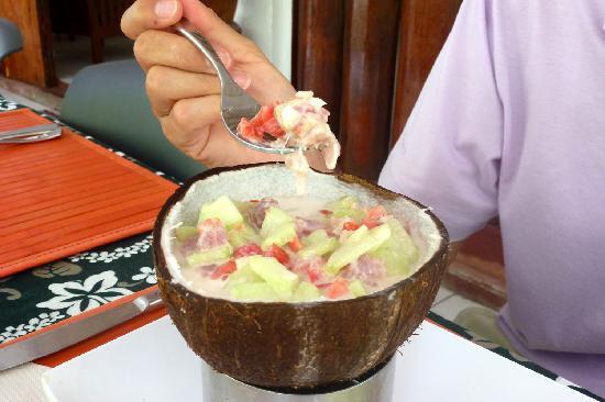Pension Hotu: Poisson tahitien au lait de coco