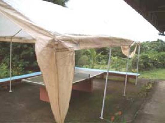 Hotel Desire Costa Rica: Ping pong table under collapsing tent