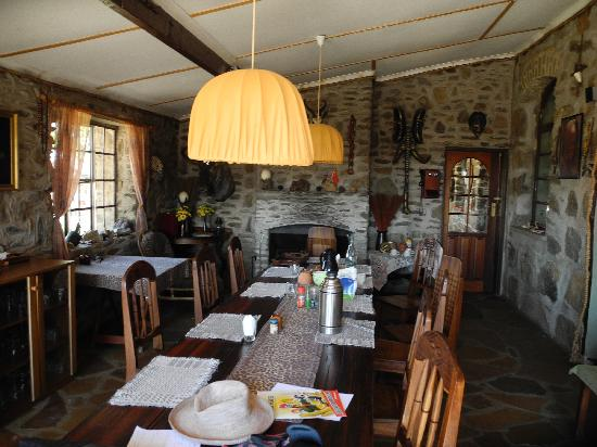 Leopard Lodge: The dining hall and social heart of the lodge
