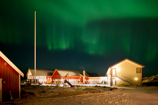 Sommaroy Arctic Hotel: Northern light at Sommarøy Arctic Hotel