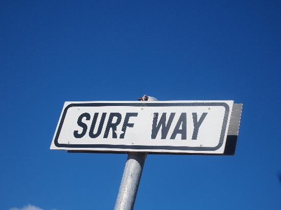 Eco Wave Lodge: Surfer: That way!