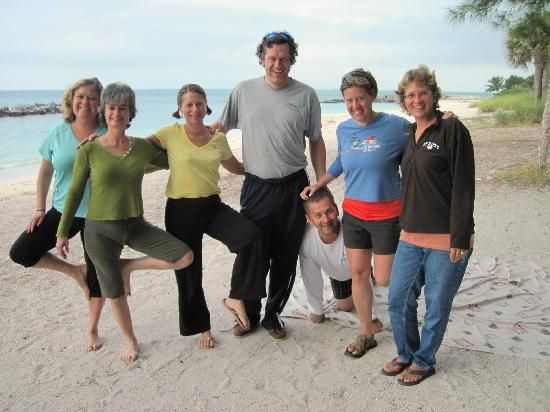 Yoga on the Beach: 7 of us woke up early for yoga - so worth it