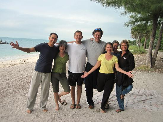 Yoga on the Beach: Us with Yoga Instructor Don on the left - great class!