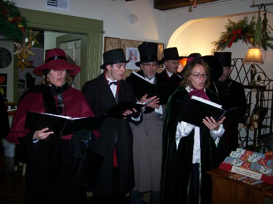 Warren County, OH : Carolers sing during Christmas in the Village