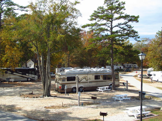 Auburn RV park at Leisure Time Campground: Pull through easy access sites