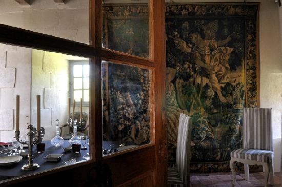 Château-monastère de la Corroirie : La salle à manger du château-monastère