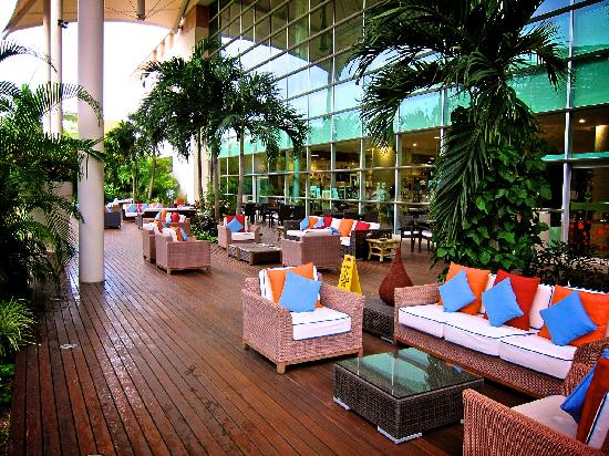 The Grand Mayan Riviera Maya: One of the outdoor lounging areas