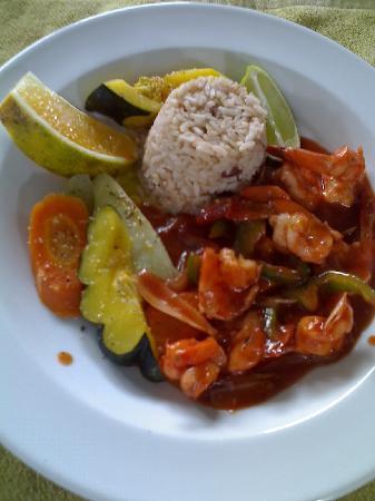 Xaman Ek Resort & Spa: Jamaica Mi Crazy Shrimp