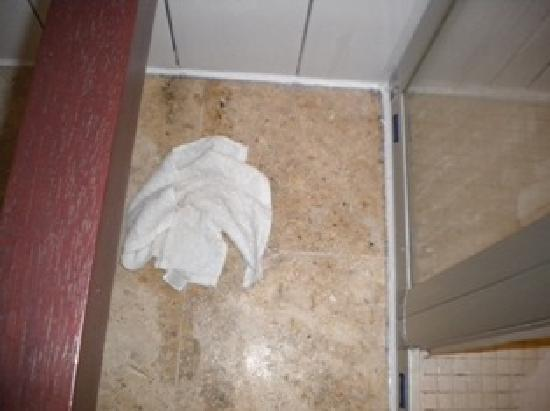 Floris Suite Hotel - Spa & Beach Club: Leak on the floor of the bathroom