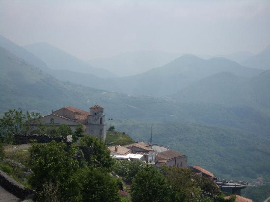 Isola Di Lauria: looking across the mountains