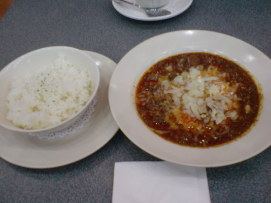 Johnny Rockets: chili bowl with rice