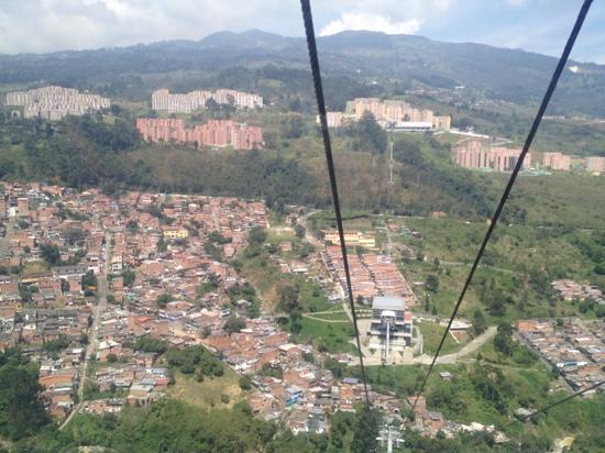 Medellin Metrocable: view of medellin