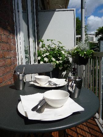 Amsterdam Boutique B&B: breakfast can also be taken on your own private balcony