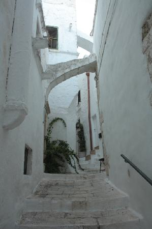 Ostuni, Italy: street in Old Town