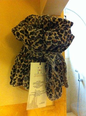 Art Hotel Novecento: accappatoio leopardato